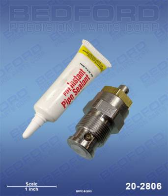 Bedford - BEDFORD - KIT - BLEED VALVE WITH SOLV'T RESISTANT O-RING - 20-2806, REPLACES GRA-239914