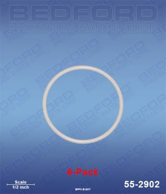Bedford - BEDFORD - TEFLON O-RINGS (6-PACK) - 55-2902, REPLACES GRA-248137
