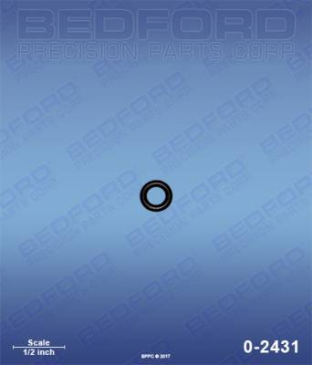 Bedford - BEDFORD - O-RING, SOLVENT RESISTANT - 0-2431, REPLACES GRA-112319