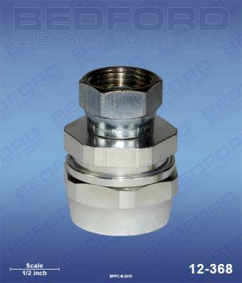 "Bedford - BEDFORD - 1/2"" HOSE FITTING X 3/8"" NPS(F) - 12-368, REPLACES BIN-72-1333"