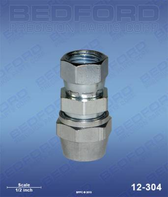 "Bedford - BEDFORD - 1/4"" HOSE FITTING X 1/4"" NPS(F) - 12-304, REPLACES GRA-104415"