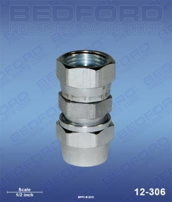 "Bedford - BEDFORD - 1/4"" HOSE FITTING X 3/8"" NPS(F) - 12-306"