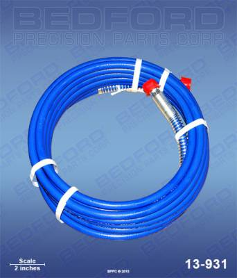 "Bedford - BEDFORD - 25' X 1/4"" AIRLESS HOSE ASSEMBLY, 3300 PSI MWPR - 13-931, REPLACES GRA-240793"