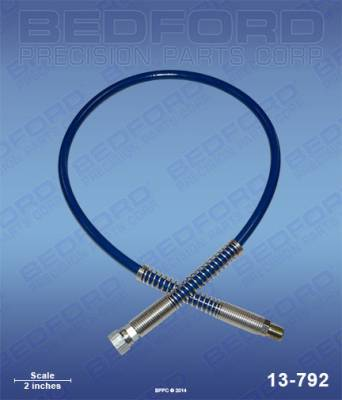 "H.E.R.O. - 85 SE - Bedford - BEDFORD - 3' X 3/16"" AIRLESS HOSE ASSEMBLY - 13-792, REPLACES TSW-203-316"