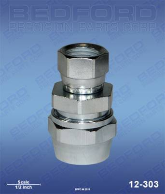 "Bedford - BEDFORD - 3/8"" HOSE FITTING X 1/4"" NPS(F) - 12-303, REPLACES BIN-72-1325"