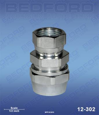 "Bedford - BEDFORD - 3/8"" HOSE FITTING X 3/8"" NPS(F) - 12-302, REPLACES BIN-72-1328"