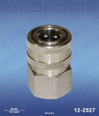 "Bedford - BEDFORD - 3/8"" NPT(F) QUICK DISC COUPLER, STAINLESS ST - 12-2527"