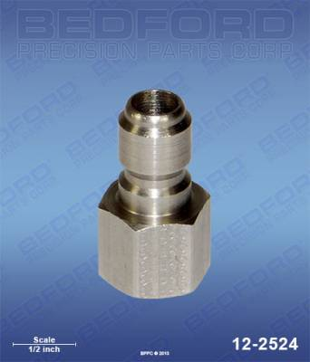 "Bedford - BEDFORD - 3/8"" NPT(F) QUICK DISC PLUG, STAINLESS STEEL - 12-2524, REPLACES GRA-801568"
