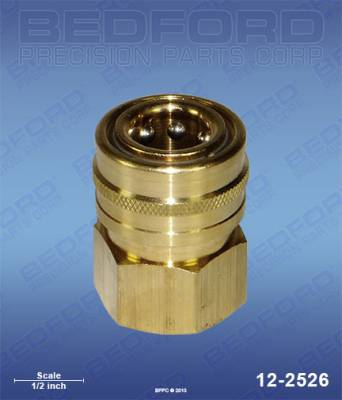"Bedford - BEDFORD - 3/8"" NPT(F) QUICK DISCONNECT COUPLER, BRASS - 12-2526, REPLACES GRA-801569"