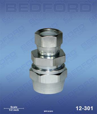 "Bedford - BEDFORD - 5/16"" HOSE FITTING X 1/4"" NPS(F) - 12-301, REPLACES BIN-72-1317"