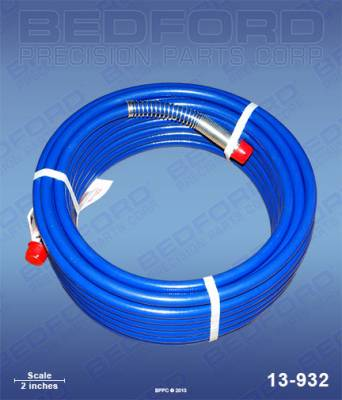 "Bedford - BEDFORD - 50' X 1/4"" AIRLESS HOSE ASSEMBLY - 13-932"