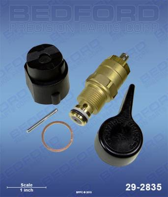 Titan - Epic 1200 GXC - Bedford - BEDFORD - BYPASS VALVE ASSY WITH SOLVENT RESISTANT O-RING - 29-2835, REPLACES TSW-800-915