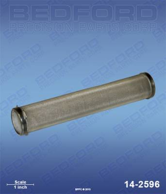 Wagner - SPC 3000 GE - Bedford - BEDFORD - FILTER ELEMENT, OUTLET MANIFOLD, 100 MESH - 14-2596, REPLACES TSW-14068