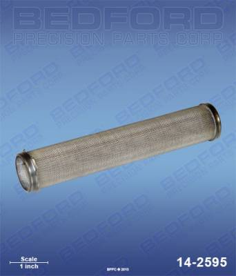 Wagner - EPX 2555 - Bedford - BEDFORD - FILTER ELEMENT, OUTLET MANIFOLD, 50 MESH - 14-2595, REPLACES TSW-14069
