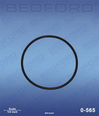 Titan - SlimLine 12:1 - Bedford - BEDFORD - FOOT VALVE O-RING - 0-565, REPLACES TSW-140-009