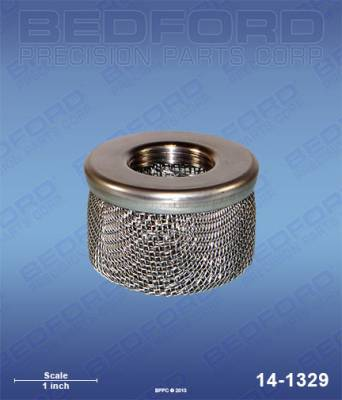 "Amspray - MAB Cheetah - Bedford - BEDFORD - INLET STRAINER (FINE), 3/4"" NPT THREAD - 14-1329, REPLACES TSW-02976"