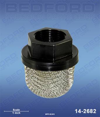 "Wagner - SW623 (EPX-style) - Bedford - BEDFORD - INLET STRAINER, 1-5/16"" THREAD - 14-2682"