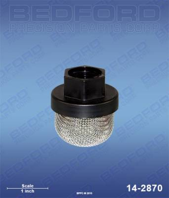 "Wagner - EPX 2355 - Bedford - BEDFORD - INLET STRAINER, 3/4"" UNF THREAD, 16 MESH - 14-2870, REPLACES TSW-0295565"