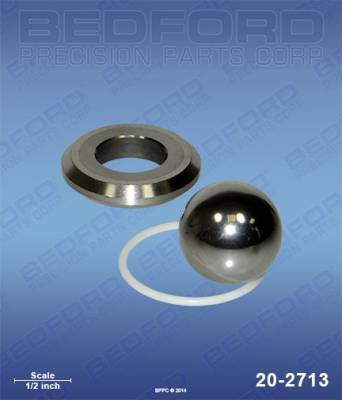 "Graco - Ultra Max II 1595 - Bedford - BEDFORD - INTAKE SEAT (1-1/4"") - SEAT, BALL & O-RING - 20-2713, REPLACES GRA-244199"