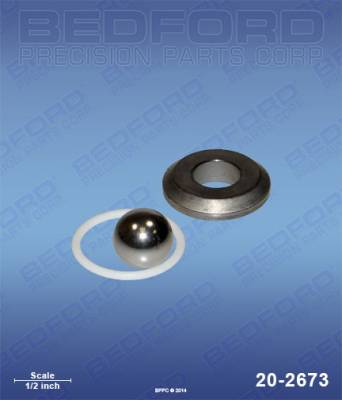 "Graco - Zip-Spray 3100 Plus - Bedford - BEDFORD - INTAKE SEAT KIT - SEAT (15/16""), BALL & O-RING - 20-2673, REPLACES GRA-239922"