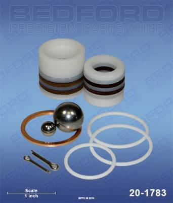 Amspray - 500 (Amspray) - Bedford - BEDFORD - KIT - 296, 396, 19308 FLUID SECTIONS - 20-1783, REPLACES TSW-04235