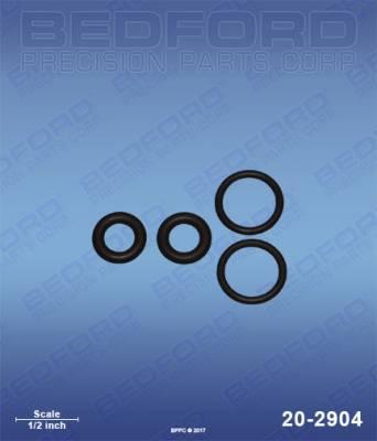 Fusion Guns & Parts - Repair Parts - Bedford - BEDFORD - O-RING KIT - CHECK VALVE - 20-2904, REPLACES GRA-246351