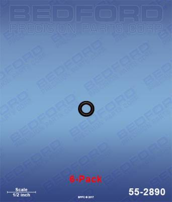Fusion Guns - Repair Parts - Bedford - BEDFORD - O-RINGS, SOLVENT RESISTANT (6-PACK) - 55-2890, REPLACES GRA-246354