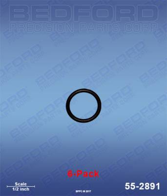 Fusion Guns - Repair Parts - Bedford - BEDFORD - O-RINGS, SOLVENT RESISTANT (6-PACK) - 55-2891, REPLACES GRA-248095