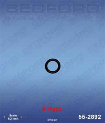 Fusion Guns - Repair Parts - Bedford - BEDFORD - O-RINGS, SOLVENT RESISTANT (6-PACK) - 55-2892, REPLACES GRA-248096