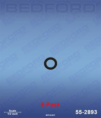 Fusion Guns - Repair Parts - Bedford - BEDFORD - O-RINGS, SOLVENT RESISTANT (6-PACK) - 55-2893, REPLACES GRA-248128