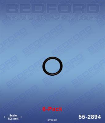 Fusion Guns - Repair Parts - Bedford - BEDFORD - O-RINGS, SOLVENT RESISTANT (6-PACK) - 55-2894, REPLACES GRA-248129