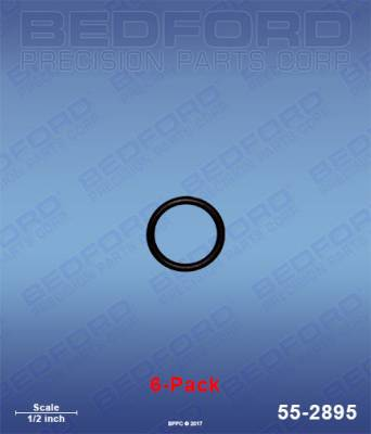 Fusion Guns - Repair Parts - Bedford - BEDFORD - O-RINGS, SOLVENT RESISTANT (6-PACK) - 55-2895, REPLACES GRA-248130