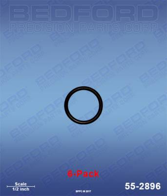 Fusion Guns - Repair Parts - Bedford - BEDFORD - O-RINGS, SOLVENT RESISTANT (6-PACK) - 55-2896, REPLACES GRA-248131