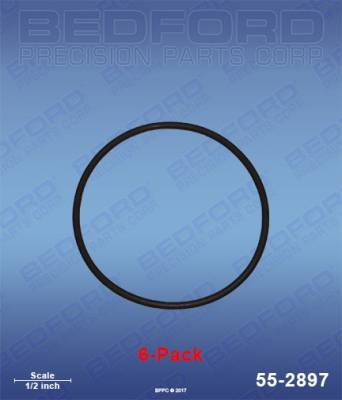 Fusion Guns - Repair Parts - Bedford - BEDFORD - O-RINGS, SOLVENT RESISTANT (6-PACK) - 55-2897, REPLACES GRA-248132