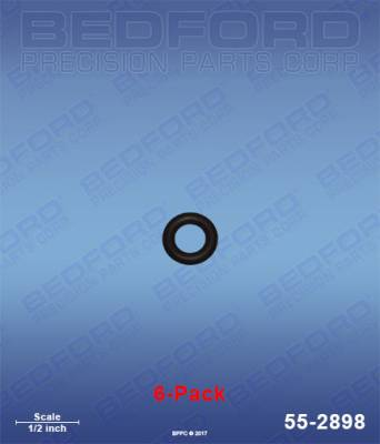 Fusion Guns - Repair Parts - Bedford - BEDFORD - O-RINGS, SOLVENT RESISTANT (6-PACK) - 55-2898, REPLACES GRA-248133