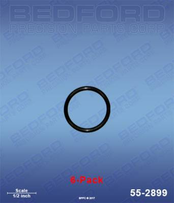 Fusion Guns - Repair Parts - Bedford - BEDFORD - O-RINGS, SOLVENT RESISTANT (6-PACK) - 55-2899, REPLACES GRA-248134
