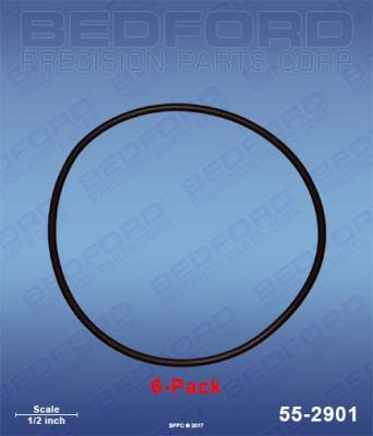 Fusion Guns - Repair Parts - Bedford - BEDFORD - O-RINGS, SOLVENT RESISTANT (6-PACK) - 55-2901, REPLACES GRA-248136