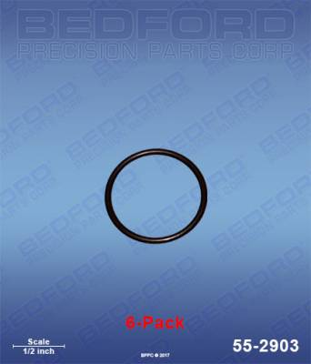 Fusion Guns - Repair Parts - Bedford - BEDFORD - O-RINGS, SOLVENT RESISTANT (6-PACK) - 55-2903, REPLACES GRA-248138