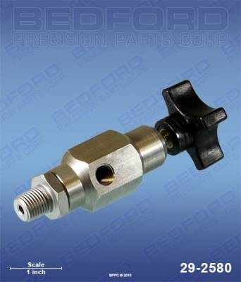 "Titan - Hydra M 2000 - Bedford - BEDFORD - OUTLET BLEED VALVE, 1/4"" NPT(M) X 1/8"" NPT(F) - 29-2580, REPLACES TSW-944-620"