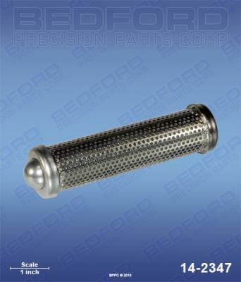 Titan - PowrLiner 8900 - Bedford - BEDFORD - OUTLET FILTER ELEMENT WITH BALL - 100 MESH - 14-2347, REPLACES TSW-930-007