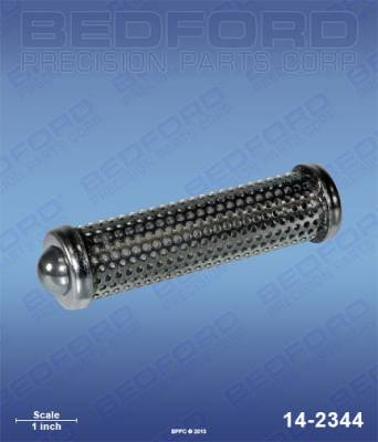 Titan - PowrLiner 6000 - Bedford - BEDFORD - OUTLET FILTER ELEMENT WITH BALL - 5 MESH - 14-2344, REPLACES TSW-930-005