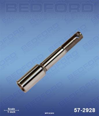 Airlessco - AllPro 400 E - Bedford - BEDFORD - PISTON ROD - LITTLE PRO, POWER PUP - 57-2928, REPLACES GRA-331708