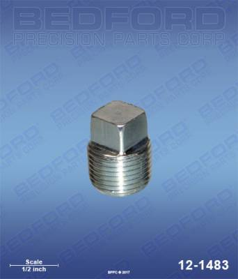 "Graco - Ultra 433 - Bedford - BEDFORD - PLUG, 3/8"" NPT - 12-1483, REPLACES BIN-20-1592"