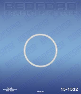 Amspray - MAB Cougar - Bedford - BEDFORD - TEFLON O-RING - 15-1532, REPLACES TSW-00215