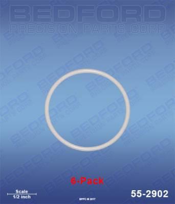 Fusion Guns & Parts - Repair Parts - Bedford - BEDFORD - TEFLON O-RINGS (6-PACK) - 55-2902, REPLACES GRA-248137
