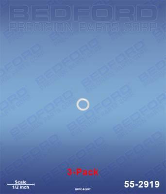 Fusion Guns & Parts - Repair Parts - Bedford - BEDFORD - TEFLON O-RINGS, FLAT TIP (3-PACK) - 55-2919, REPLACES GRA-246360
